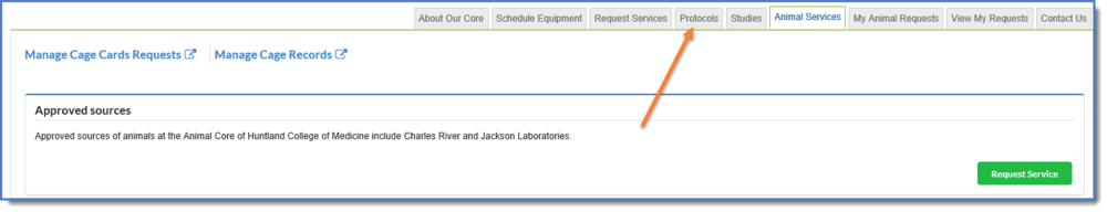 Figure 1: Protocols tab.