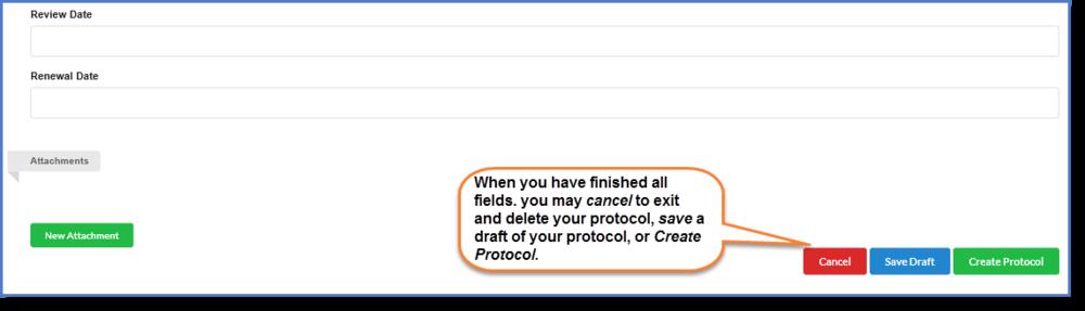 Figure 4:  Click  Create Protocol.