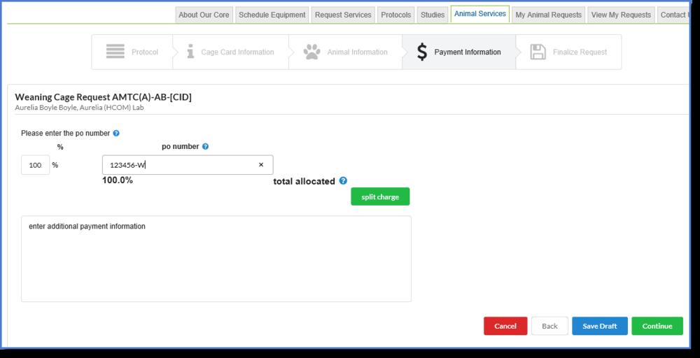 Figure 7: Enter payment information.