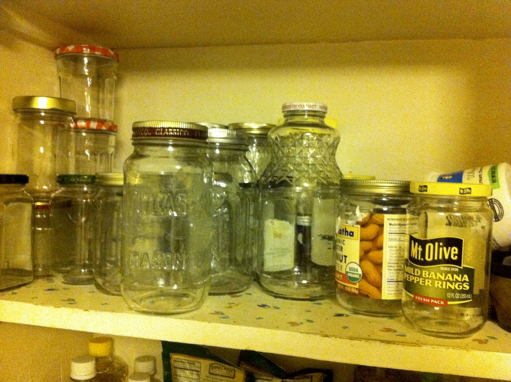And you thought I was kidding about a jar shelf.