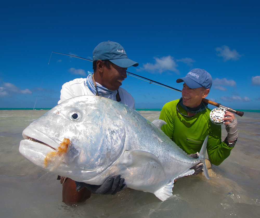 Very happy client and guide......sightly upset Giant Trevally