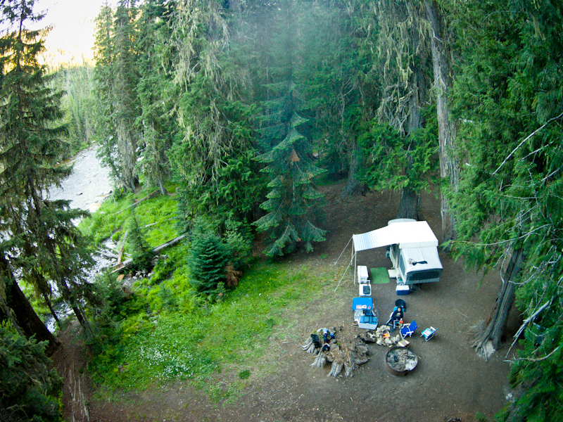 Campsite on the North Fork of the Clearwater