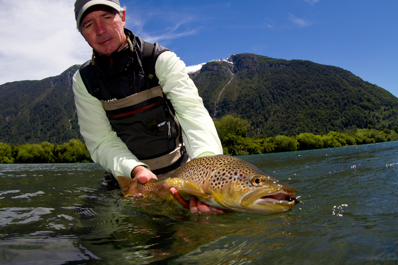 Gonzalo Cortez with a Futalafu brown.