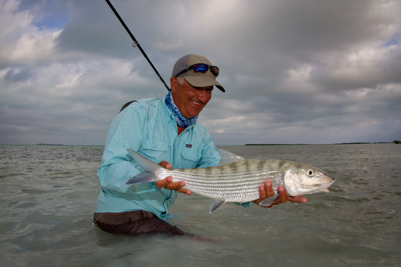 The Bonefish here at Cayo Cruz were larger on average than Jardines. We caught, and saw, lots of fish in the 5-7lb category. Yoandry said his largest Bone landed was 9 lbs.