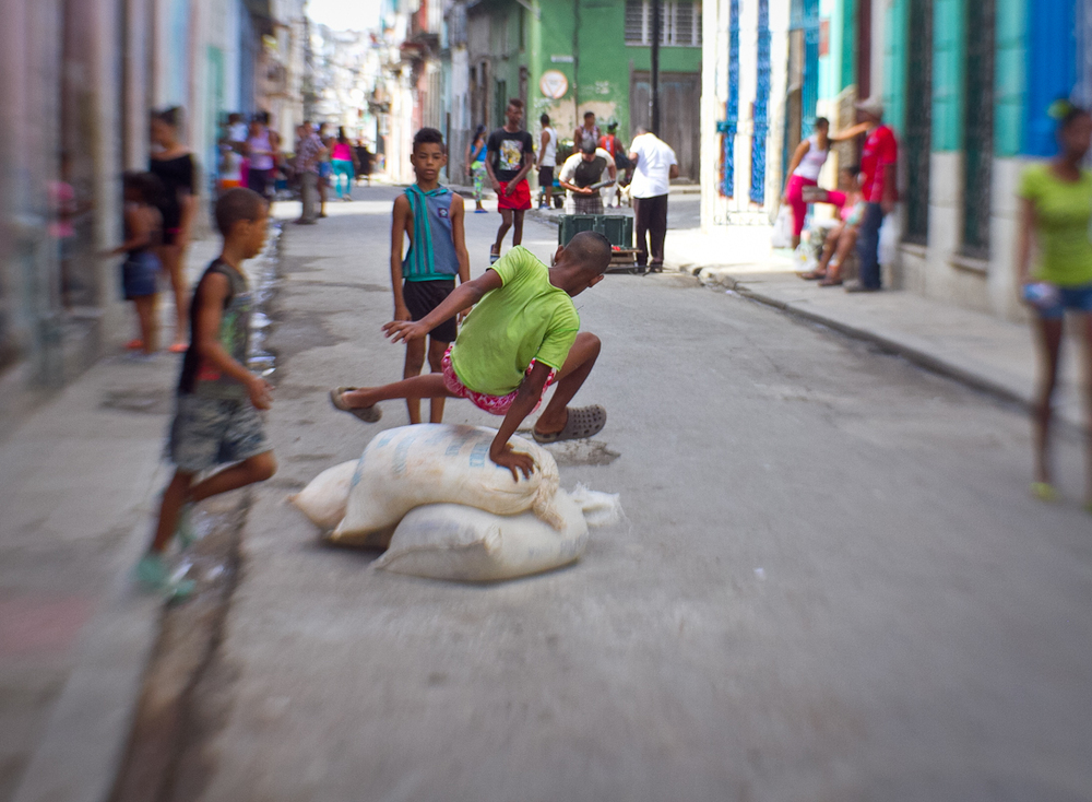 Kids playing, Havana, Cuba