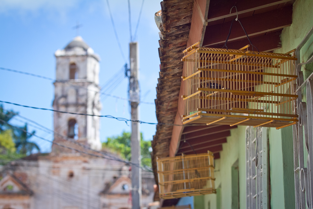 Birds in cages, Trinidad, Cuba