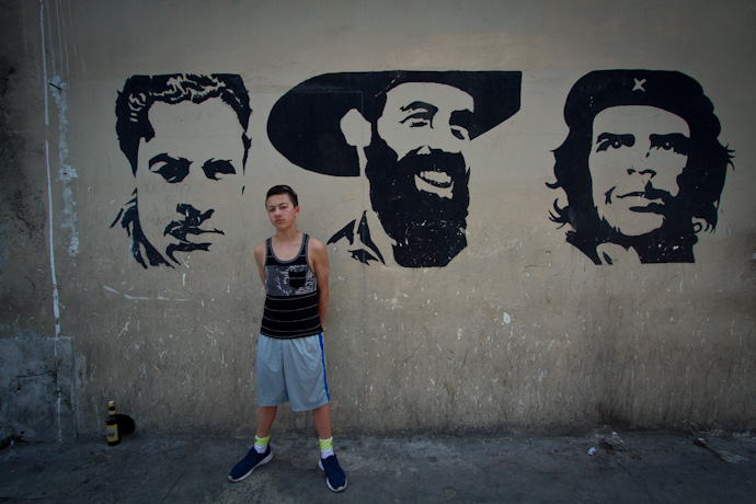 Teddy amongst some of the Cuban greats
