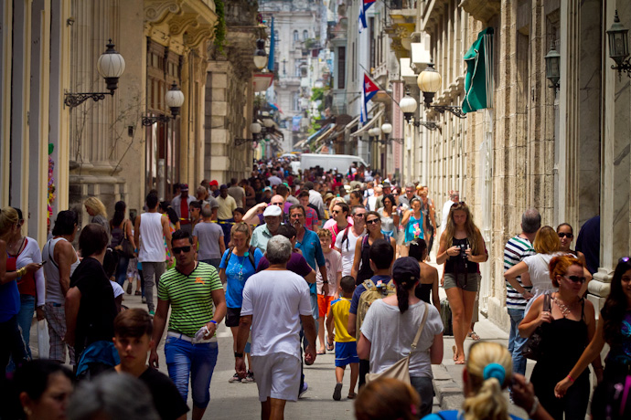 Old Havana is busy these days