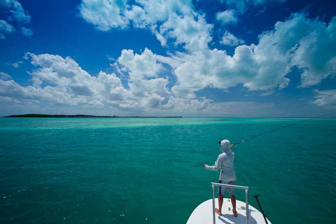 Searching a Cayo Cruz Channel for Tarpon, Cuba