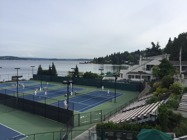 Lake side courts at the Seattle Tennis Club