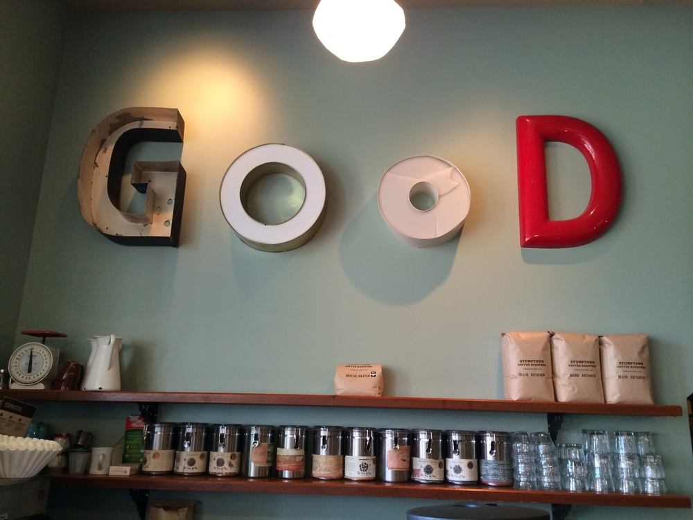 Photo taken at Woodlawn Coffee and Pastry in Portland, Oregon.  May 2014.