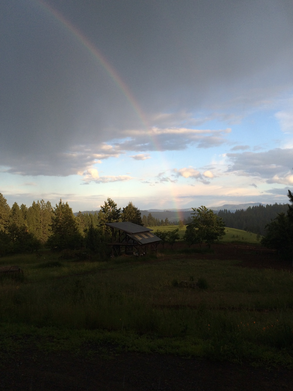 Rainbow connects Earth and Sky. 16 June 2014.