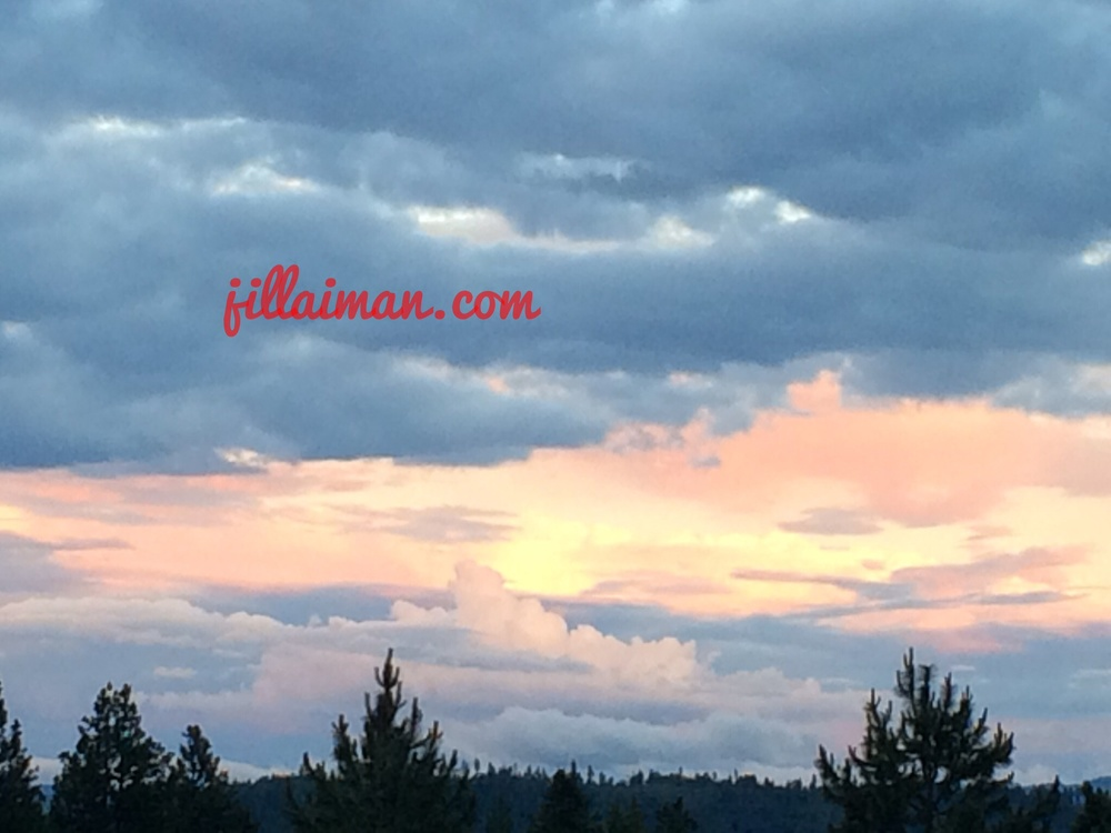 A beautiful sunset. 27 June 2014.