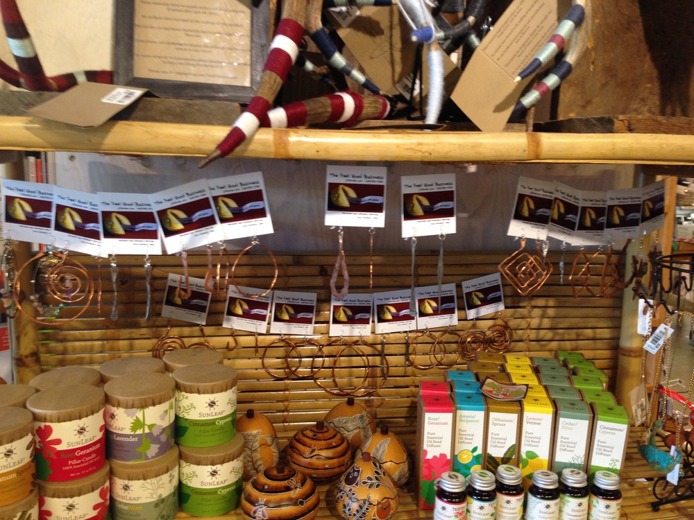 The Feel Good Business Earrings are for sale at The Moscow Food Co-op, 121 East 5th Street Moscow, Idaho 83843.