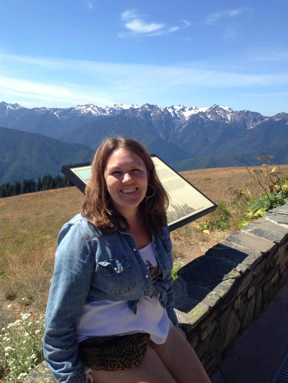 "Jill ""Takes a Breather"" at Hurricane Ridge in Olympic National Park.  9 August 2014."