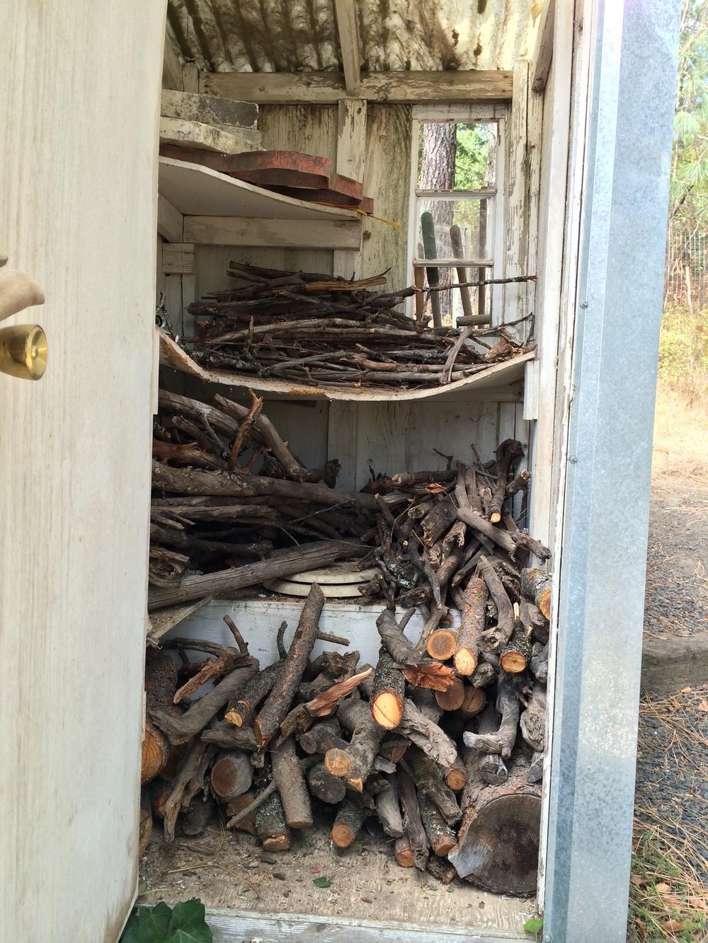 Stacking Firewood.