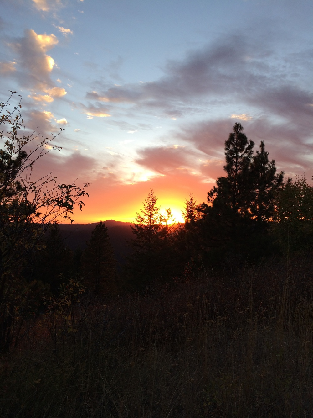 The Sunset.  Here, this spot, somewhere in Idaho, we waited for the full moon to rise.  8 October 2014.