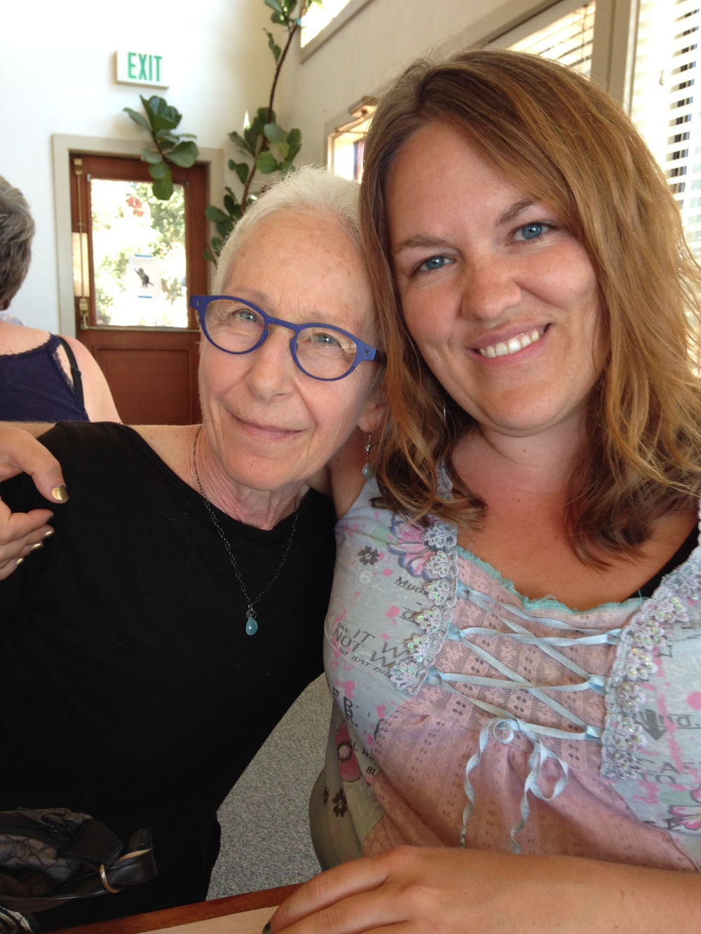 New friends.  Lorna (left) and Jill met at the American Polarity Therapy Association and Biodynamic Cranio-sacral Therapy Association conference.  We took this picture together to honor our new connection.  Jill practices Polarity Therapy, and Lorna practices Biodynamic Cranio-sacral Therapy. It was a joy to meet Lorna!  September 2014 .