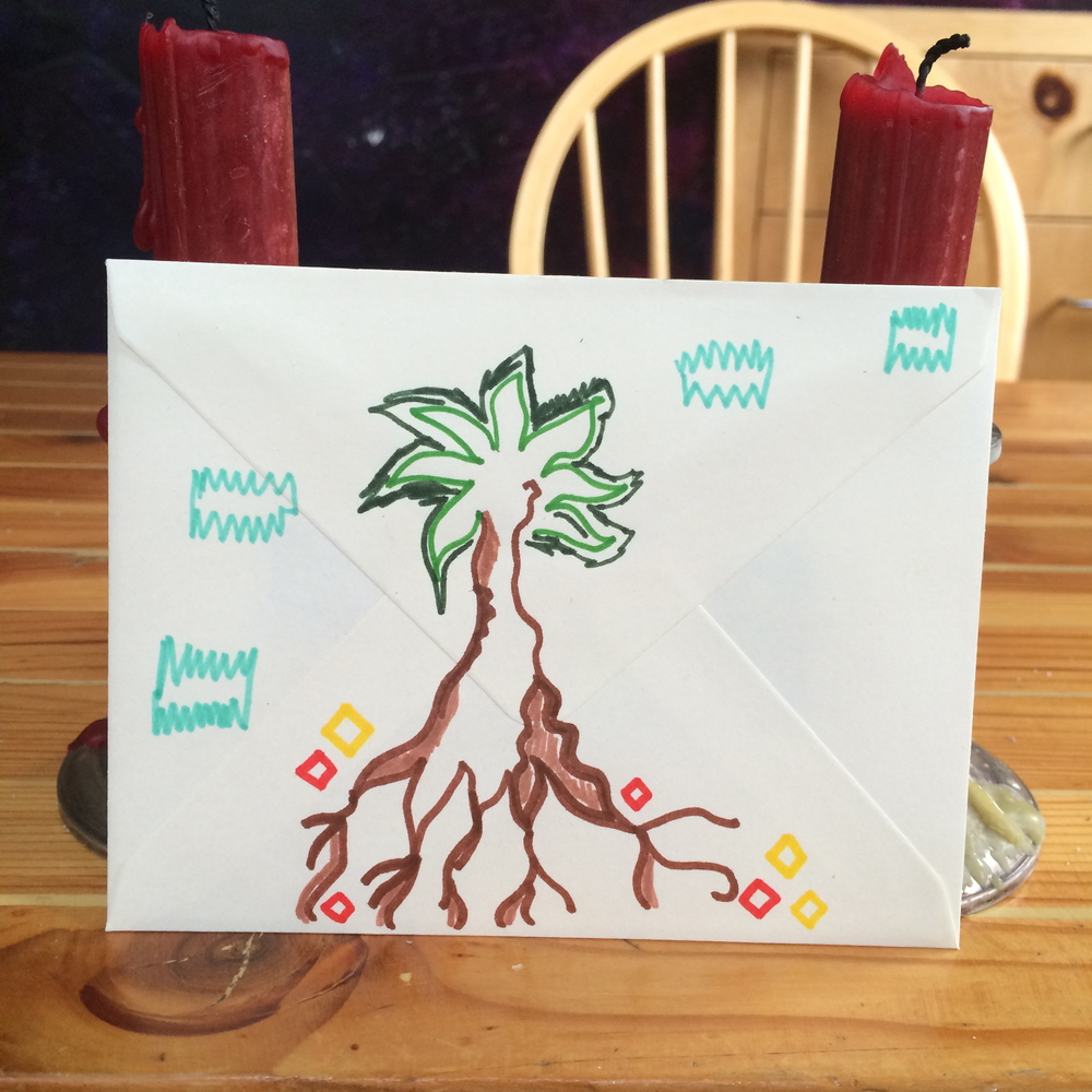 Tree drawing by Jill Aiman, March 2014.