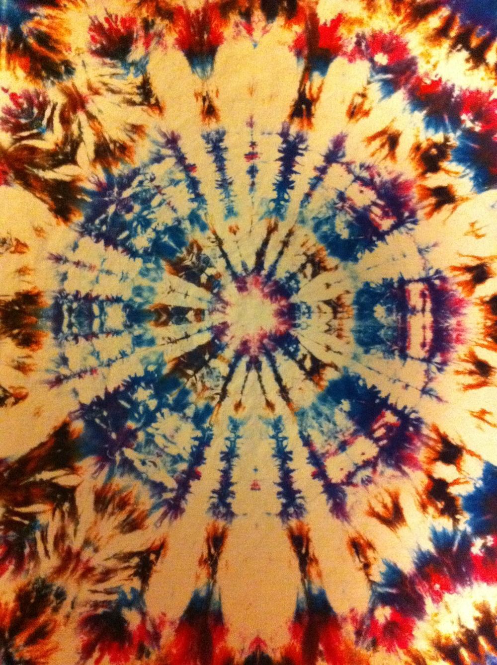 Mystic tie-dye piece by Jill Lawrence, 2011.