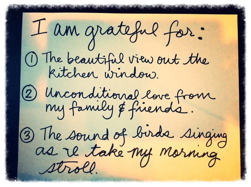 Three things I'm grateful for right now. 22 May 2014. By Jill Lawrence. Copy paper and Sharpie .