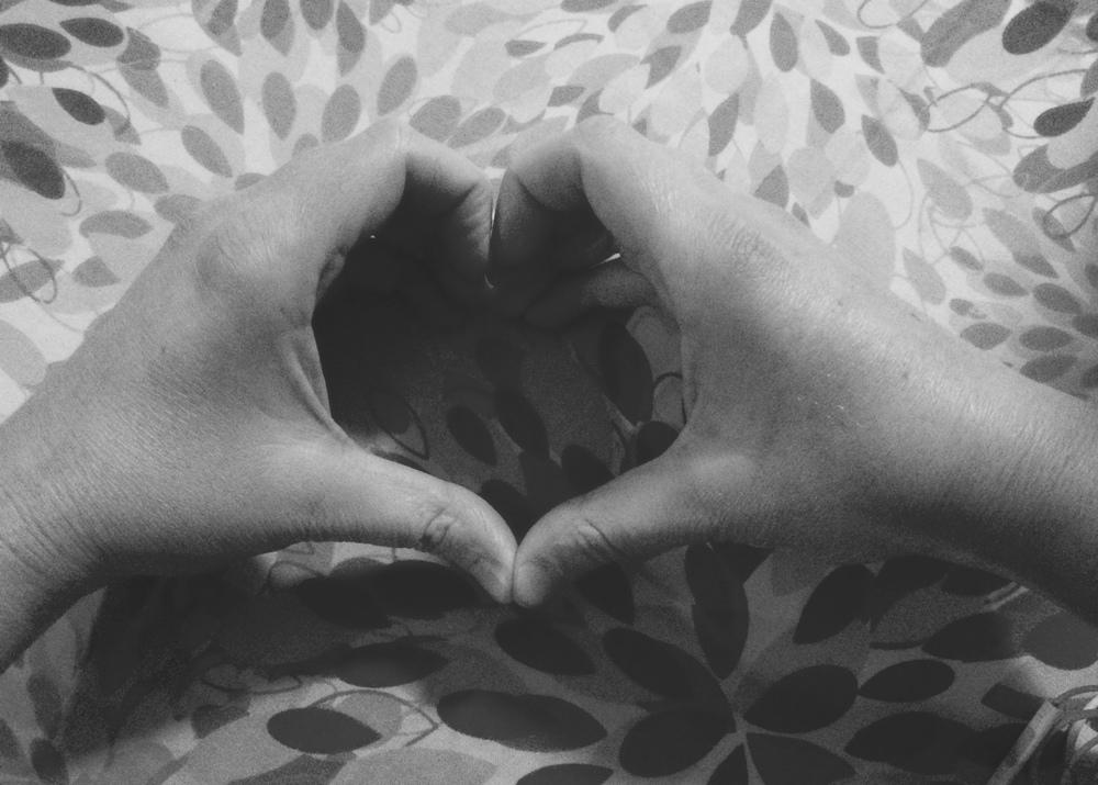 Heart hands. 1 December 2015. Photograph by Marc.