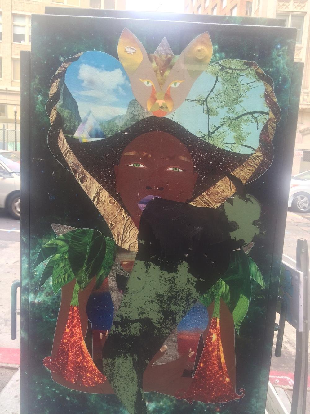 Mystic street art. Oakland, CA. August 2015.