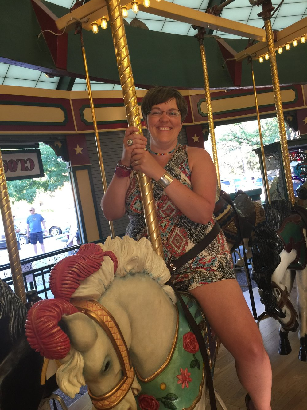 "Riding ""A Carousel for Missoula"", in Missoula, Montana.  July 2017."
