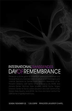 Services Mark Transgender Remembrance Day | 11.22.2015