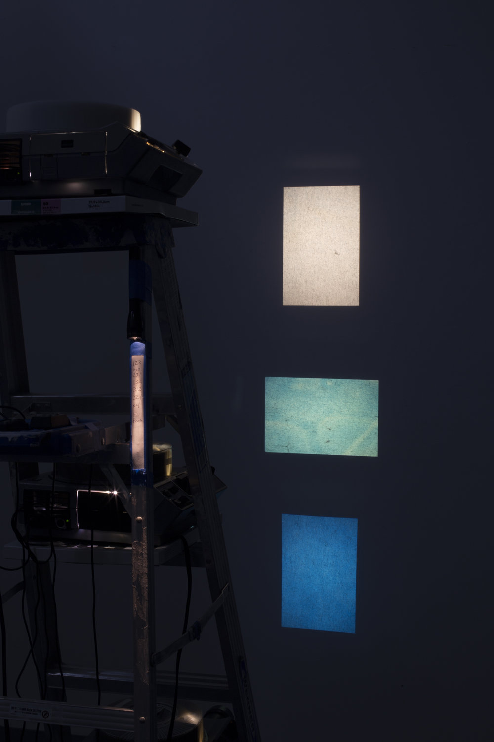 Building Codes, Cyanotype Projection Installation, 2017