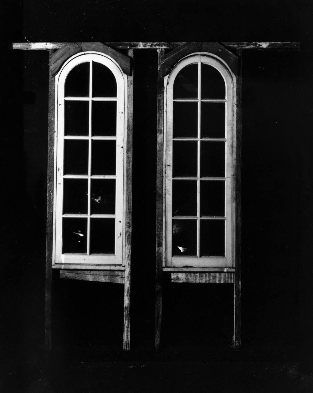 Tower Window (Interior), Silver Gelatin Print, 2018