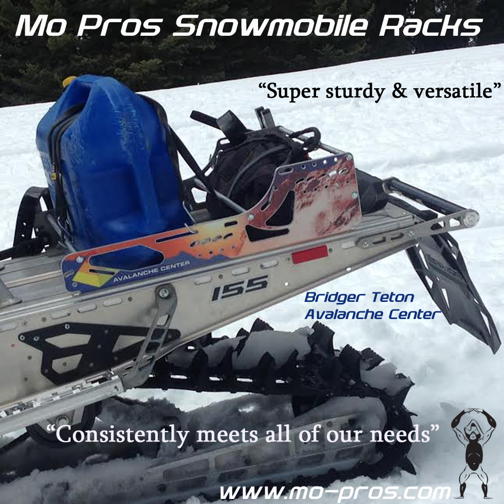 The Mo Pros Snowmbike Rack is serious Backcountry Adventure Gear. Timberlseds don't have capability to carry cargo, so attaching a snowmobile rack for carrying gas and cargo is essential. As we become a backcountry united environment, it's important to evaluate needs and understand if other products like cheetah factory racing or other gear meets your needs.