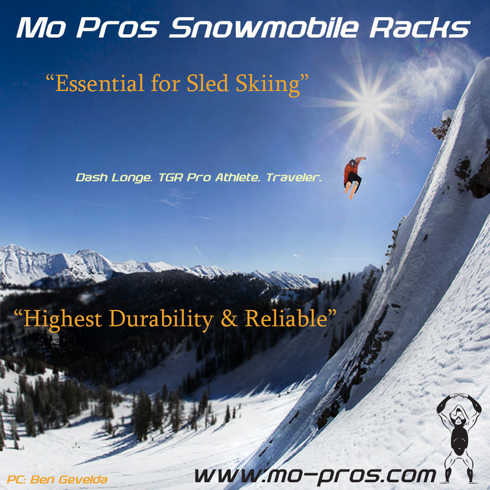 The Mo Pros snowmobile racks are light weight but also more durable than other racks, which typically give out over time. This breakage is from use in extreme weather and/or hard wear and tear situations (i.e. Triple kick flipping your sled down a mountain). The Mo Pros Snowmobile ski rack uses quality parts, much better than the traditional plastic straps; which become cold, brittle, and difficult to manage.  The Mo Pros ski rack is a far more reliable tool and critical component of my backcountry travel, it's an essential part of my days out sled skiing.