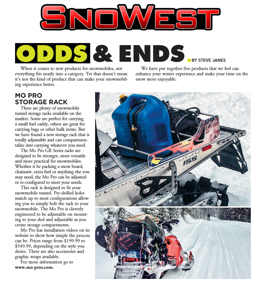 Snowest Magazine Snowmobile Rack