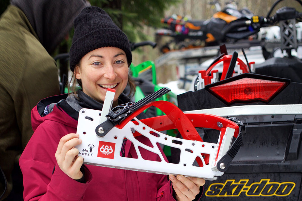 snowmobile snowboard rack