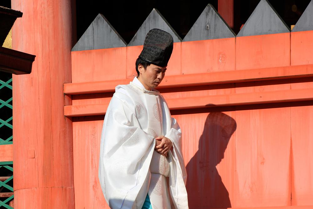 Shinto monk, Nara temple