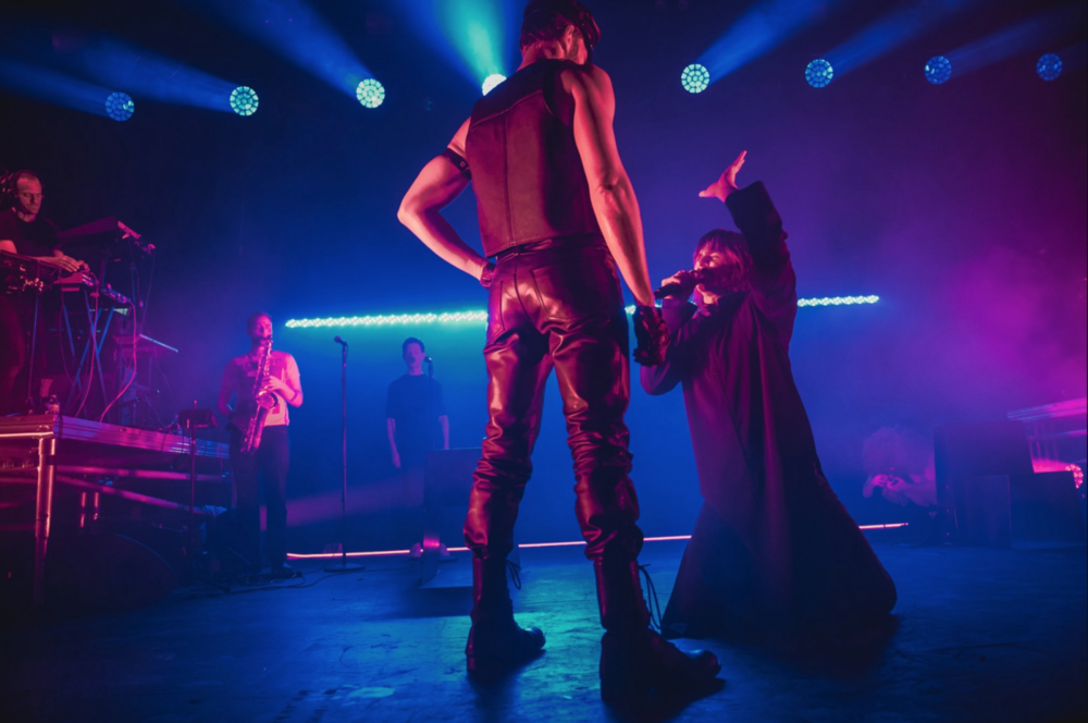 With Fischerspooner at Brooklyn Steel    Photo by Ryan Muir