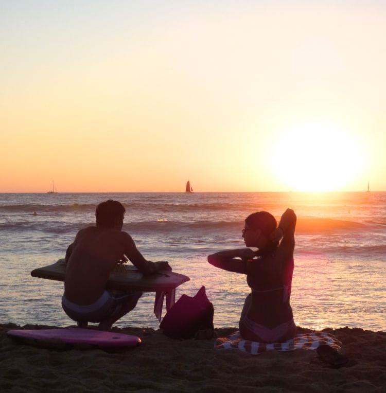 Sunset Waikiki Beach