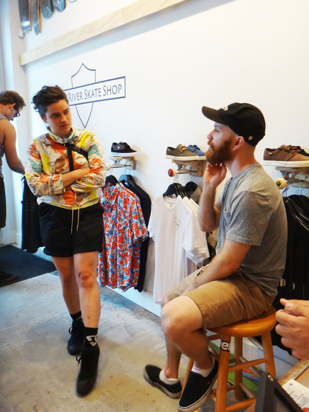 Colleen Pelech and Richard Oates,East River Skateshop Grand Opening, August 1st, 2015. Photo by Corinne Séguin.