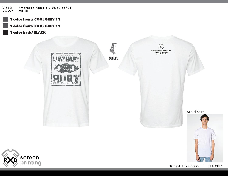 T-shirt design questionnaire - Crossfit Luminary Built Tough T Shirt