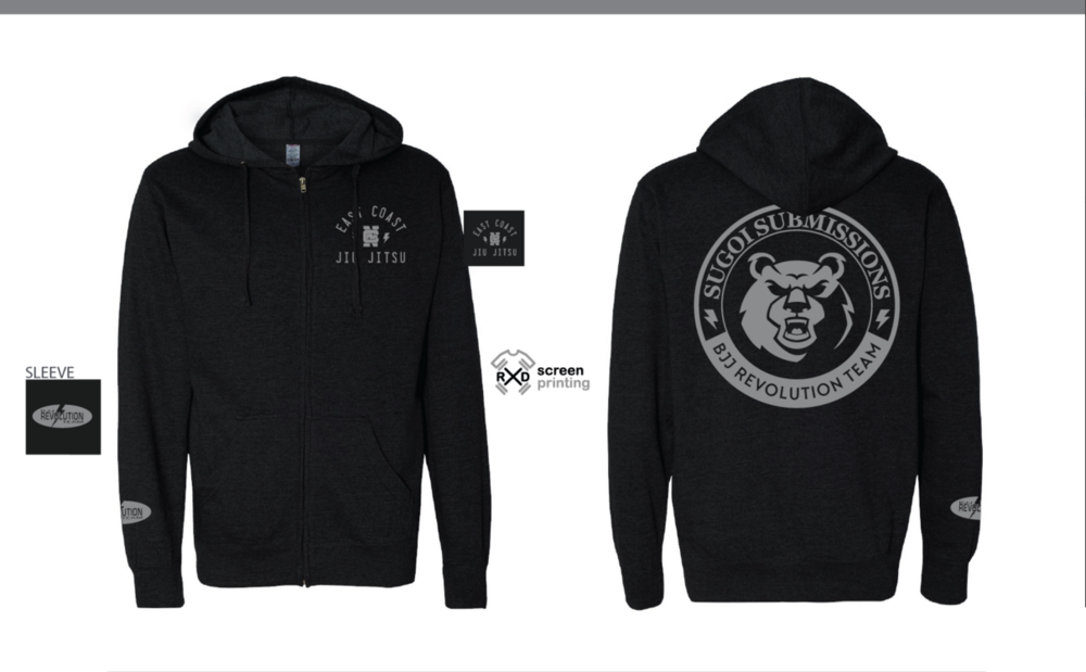 sugoi submissions bjj revolution team hoodie