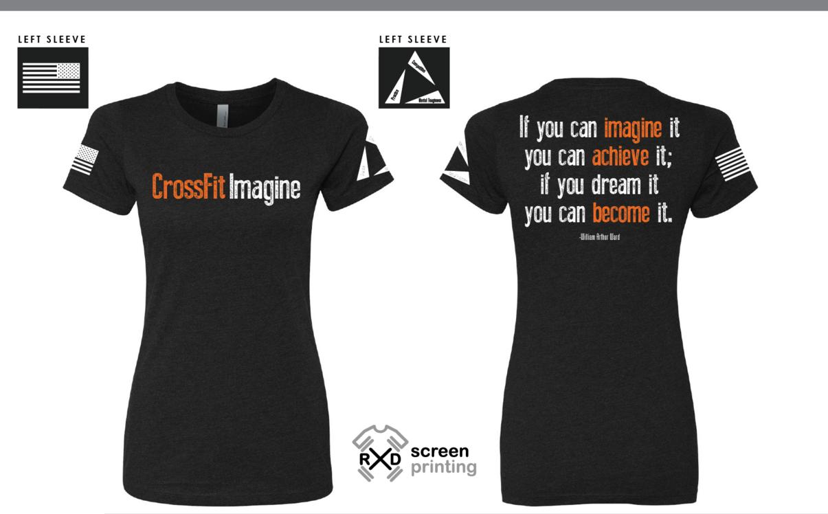 Shirt design maker canada - Crossfit Imagine Imagine Achieve Become