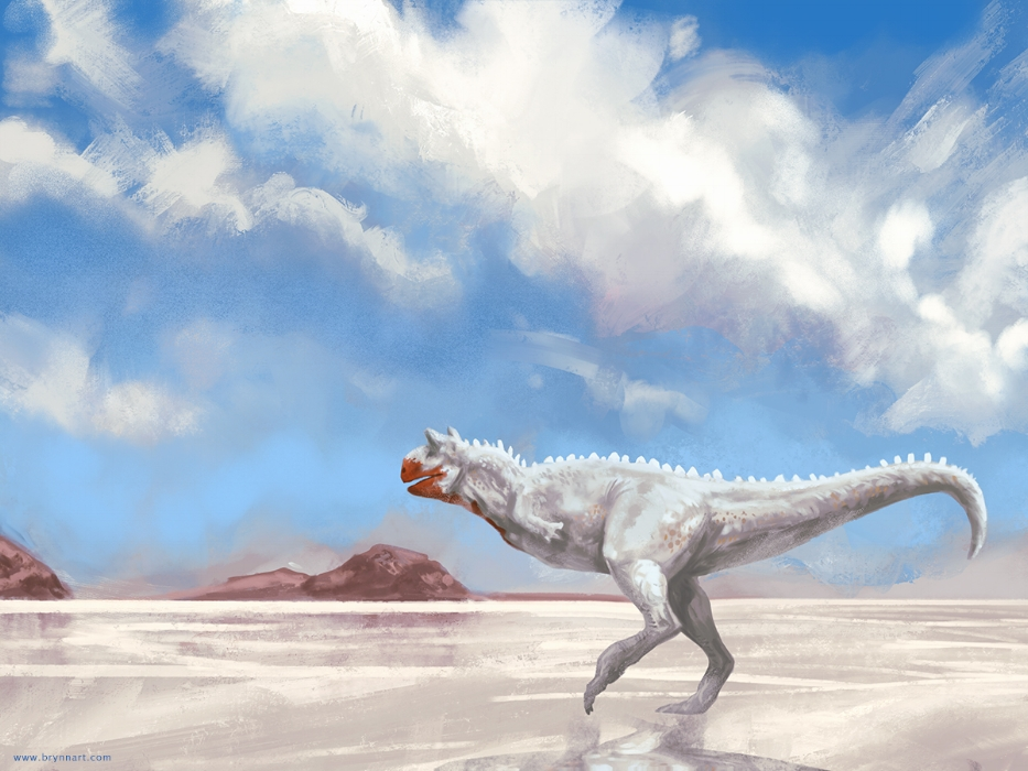 Carnotaurus  Draw Dinovember, 2018
