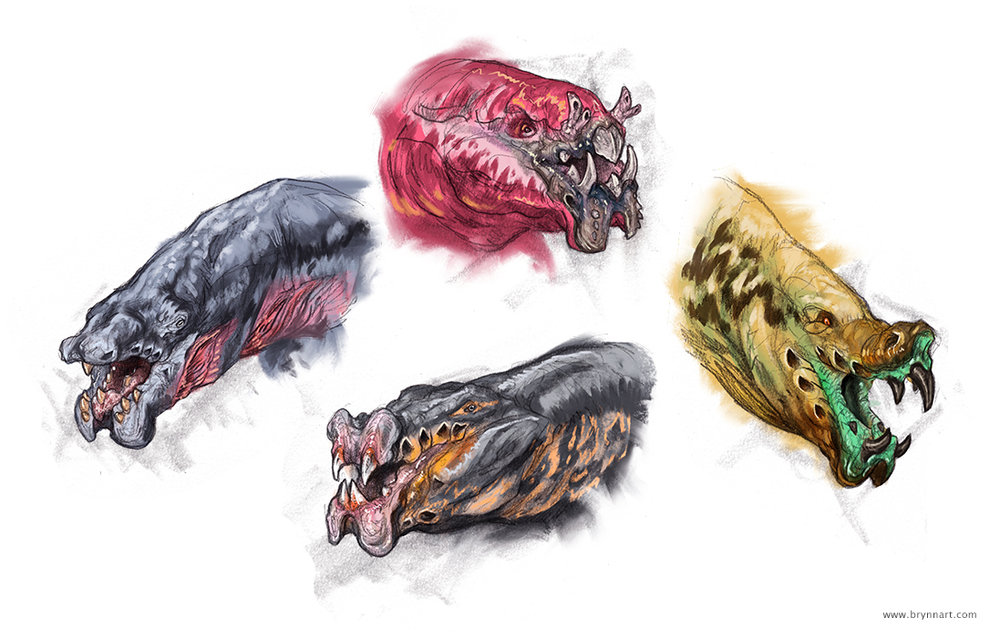 Pit Faces Creature Concepts  Personal Work