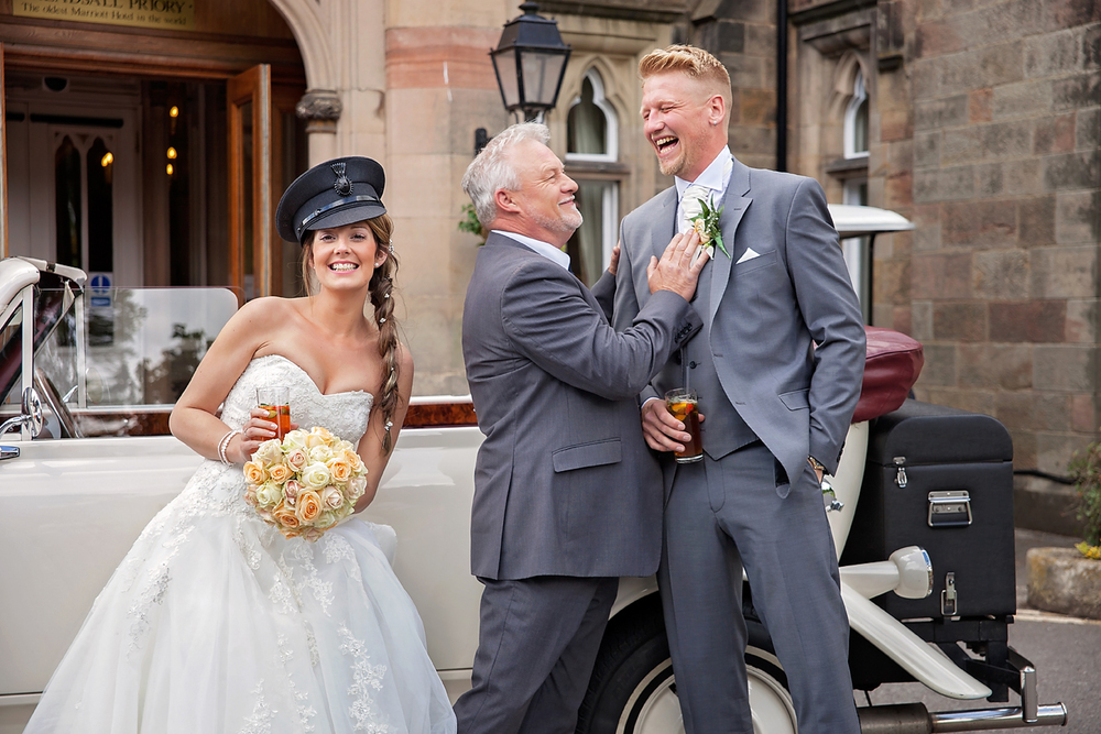It's all wrong! We're not sure at what point in the journey this happened but the driver decided he'd had enough of driving and fancied being the bride for once :)