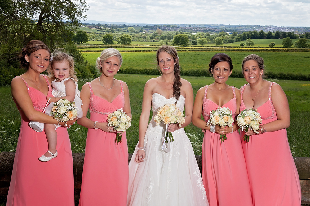 St Mary's Church Bride with Bridesmaids Nottingham