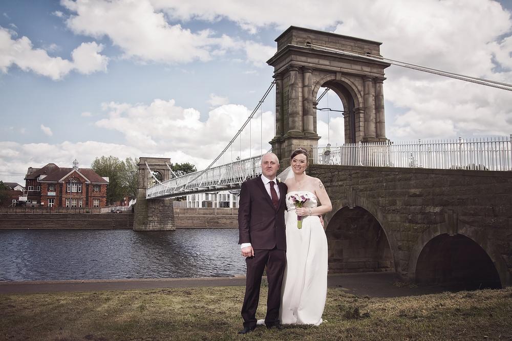 Welbeck Hall Wedding suspension bridge