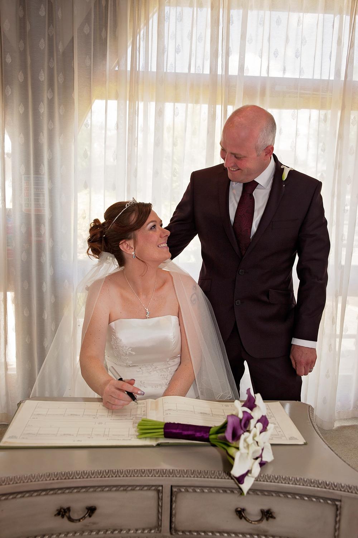 Welbeck Hall Wedding Nottingham Signing