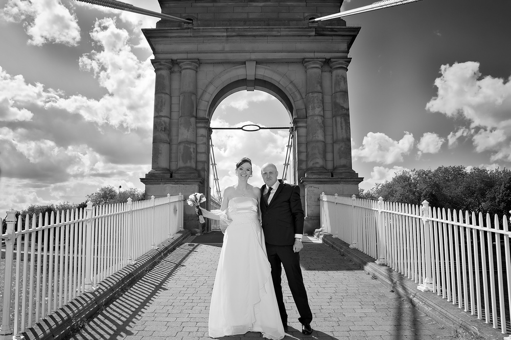 Wilford suspension bridge wedding nottingham