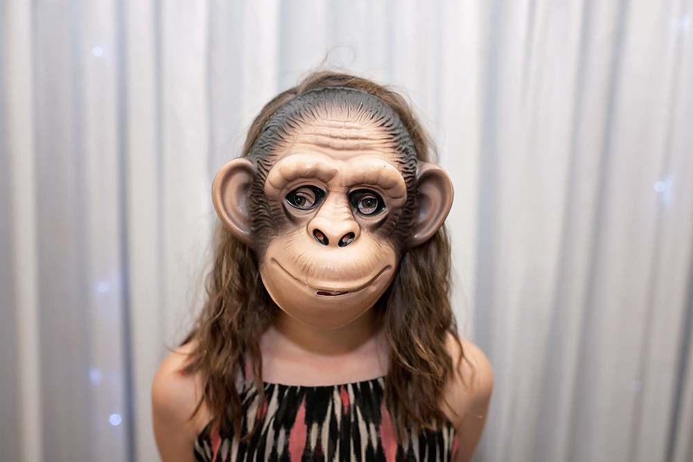 Cheeky monkey photo booth